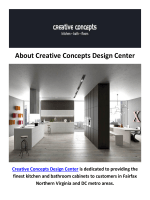 Creative Concepts Design Center - Kitchen Cabinets in Fairfax, VA