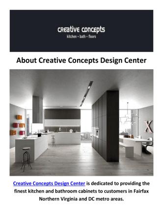 Creative Concepts Design Center - Kitchen Cabinets in Fairfax, VA