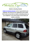 Mobile Auto Detailing in Charlotte, NC
