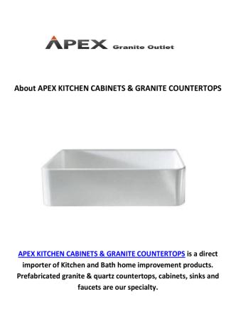 APEX KITCHEN SINKS & GRANITE COUNTERTOPS IN LOS ANGELES, CA