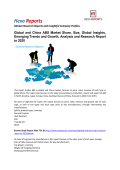 Global and China ABS Market Share, Size, Global Insights, Emerging Trends and Growth, Analysis and Research Report to 2020