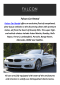 Falcon Car Rental - Rent A BMW In Los Angeles, CA