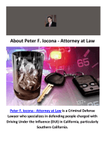 Peter F. Iocona - Attorney at Law - DUI Attorneys in Orange County, CA