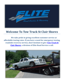 Tow Truck St Clair Shores | Towing Company in St Clair Shores