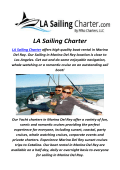LA Sailing Charter : Rent A boat In Los Angeles, CA