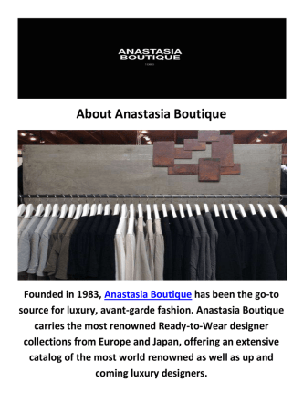 Anastasia Boutique - Vivienne Westwood Clothes in Newport Beach, CA