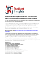 Global Dental Washing Machine Market Size, Emerging Trends and Growth and Forecast 2016 by Radiant Insights