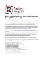 Global Truck Platooning System Market Size, Emerging Trends and Growth, Forecast 2016 by Radiant Insights