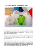 Why Android Application Development is the Future?