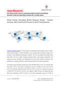 Energy Harvesting Market Analysis, Size, Share, Growth, Industry Trends and Forecasts, 2013 to 2019: Hexa Research
