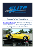Tow Truck Warren | Towing Service in Warren