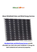 WindSoleil Solar Panel Installation Services in Chicago, IL