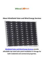 WindSoleil Solar Panel Installation Services in Chicago, IL