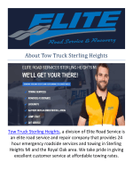 Tow Truck Sterling Heights : Towing Sterling Heights MI