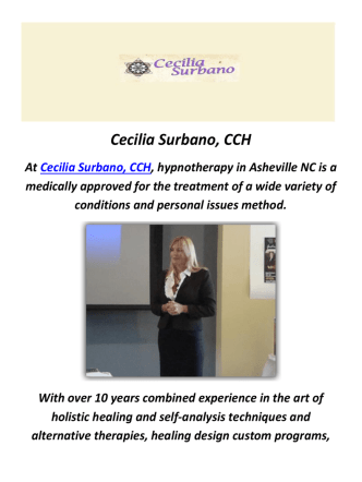 Cecilia Surbano, CCH : Reiki in Asheville, NC