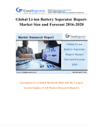 Global Li-ion Battery Seperator Market Research Report 2016