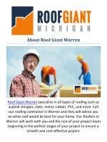 Roof Giant Warren : Roofers In Warren, MI