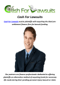 Cash For Lawsuits Advance in Millburn, NJ