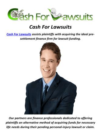 Cash For Lawsuits Advance in Millburn, NJ