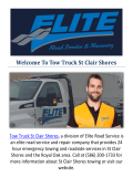 Tow Truck St Clair Shores : St Clair Shores towing, MI