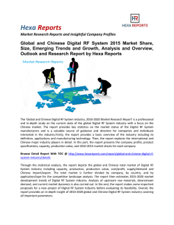 Global and Chinese Digital RF System Market Analysis, Size, Growth and Overview