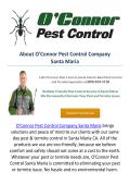 O'Connor Pest & Termite Control Company In Santa Maria, CA
