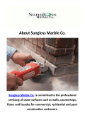Sungloss Marble Co - Old Stone Repair in Chicago, IL