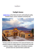 Twilight New Homes For Sale in Albuquerque, NM