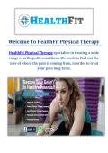 HealthFit Physical Therapy in Pasadena, CA