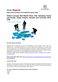 Conveyor Belt Market Growth, Trends Forecasts 2016-2020