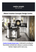 Creative Concepts Design Center | Kitchen Cabinets in Fairfax, VA