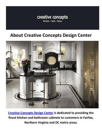 Creative Concepts Design Center | Kitchen Cabinets in Fairfax, VA