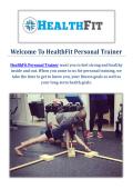 HealthFit Personal Trainers in Pasadena