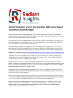 Latest Study - Aerosol Propellant Market Size, Growth Report to 2024: Radiant Insights