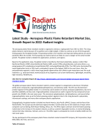 Aerospace Plastic Flame Retardant Market Size, Competitive Trends Report: Radiant Insights