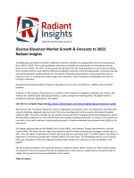 Glucose Biosensor Market Size, Share, Growth Report To 2022 By Radiant Insights