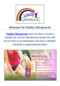 Vitality Chiropractic : Chiropractor in San Jose