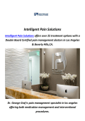 Back Pain Doctor in Los Angeles, CA By Intelligent Pain Solutions