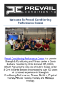 Prevail Conditioning Performance & Fitness Center in Santa Barbara, CA