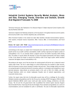 Industrial Control Systems Security Market Trends, Growth, Demand and Forecast