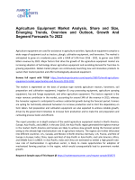 Agriculture Equipment Market Analysis, Share and Size, Emerging Trends, Overview and Outlook, Growth And Segment Forecasts To 2022