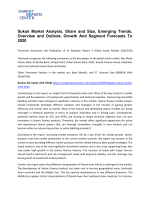 Sukuk Market Analysis, Share and Size, Emerging Trends, Overview and Outlook, Growth And Segment Forecasts To 2020