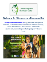 Chiropractors in Rosemead
