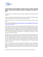 Aircraft Galley Equipment Market Growth, Trends Outlook and Forecasts To 2020