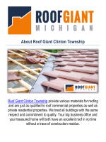 Roof Giant Clinton Township : Roofing Contractors in Clinton Township, MI