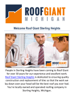 Roof Giant Roofing Company in Sterling Heights, MI
