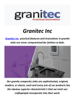 Granitec Inc : Kitchen Sinks In Toronto