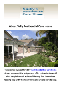 Sally Residential Care Home - Assisted Living Home in Camarillo, CA