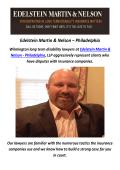 Edelstein Martin & Nelson - Disability Lawyer in Philadelphia, PA