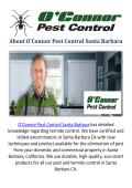 O'Connor Pest & Termite Control in Santa Barbara, CA